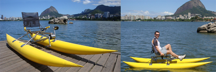 Portable Pedal-Powered Boat
