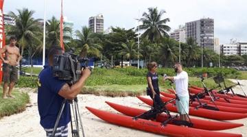 bicicleta aquática da Chiliboats no SBT