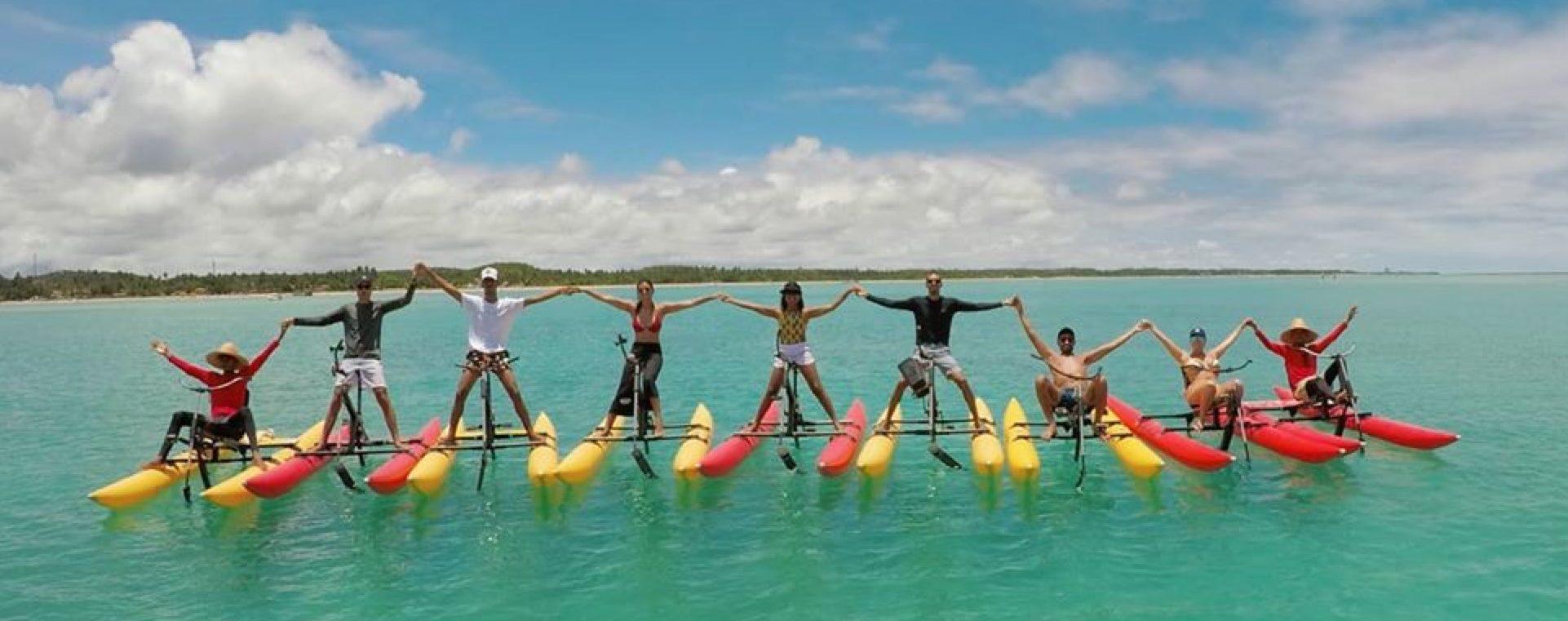 Aluguel das Bicicletas Aquáticas Chiliboats é um sucesso mundial!