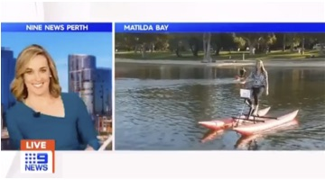Chiliboats on Australia TV 9News Perth