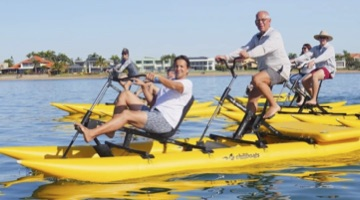 Chiliboats Waterbikes featured on Weekender TV